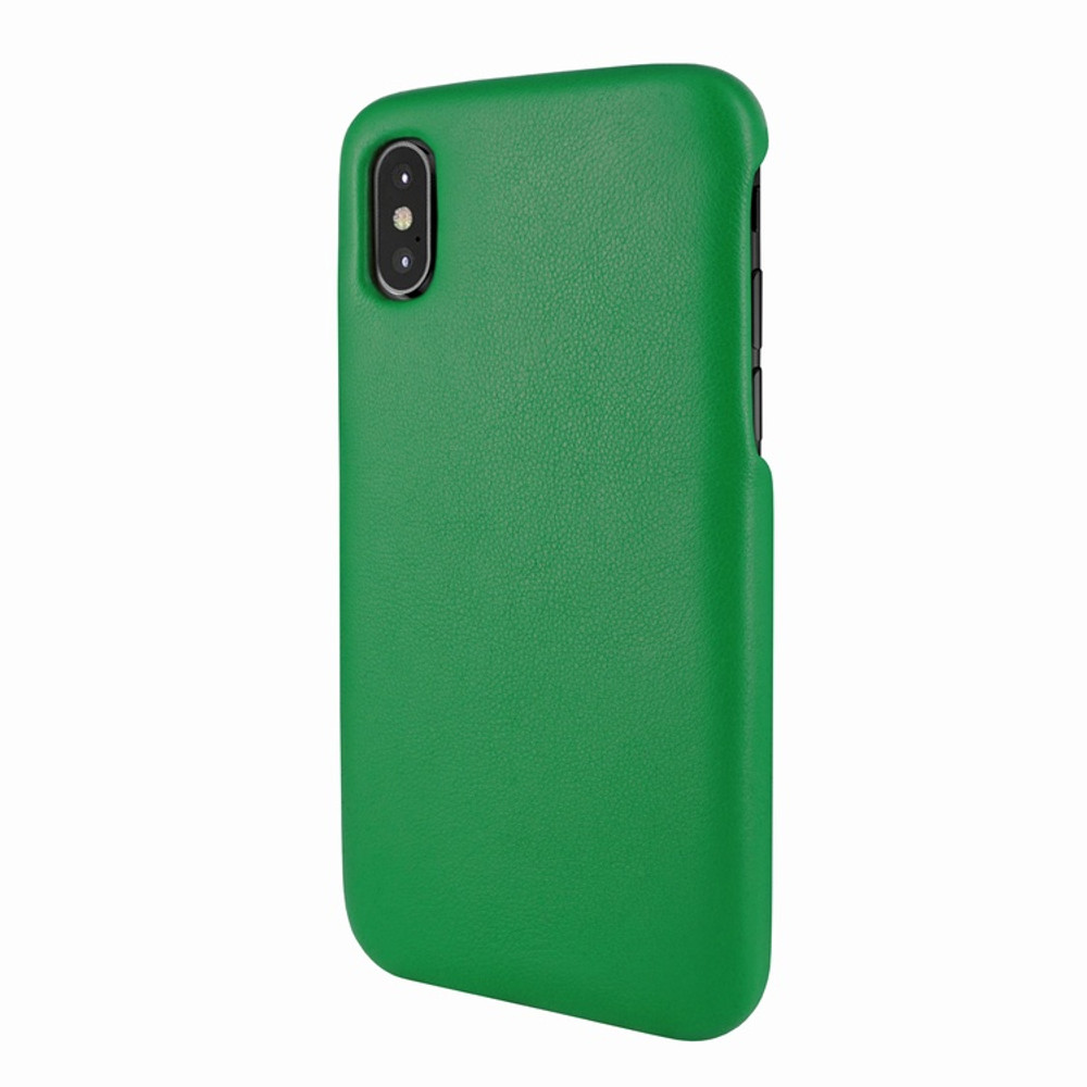 Piel Frama iPhone X / Xs FramaSlimGrip Leather Case - Green