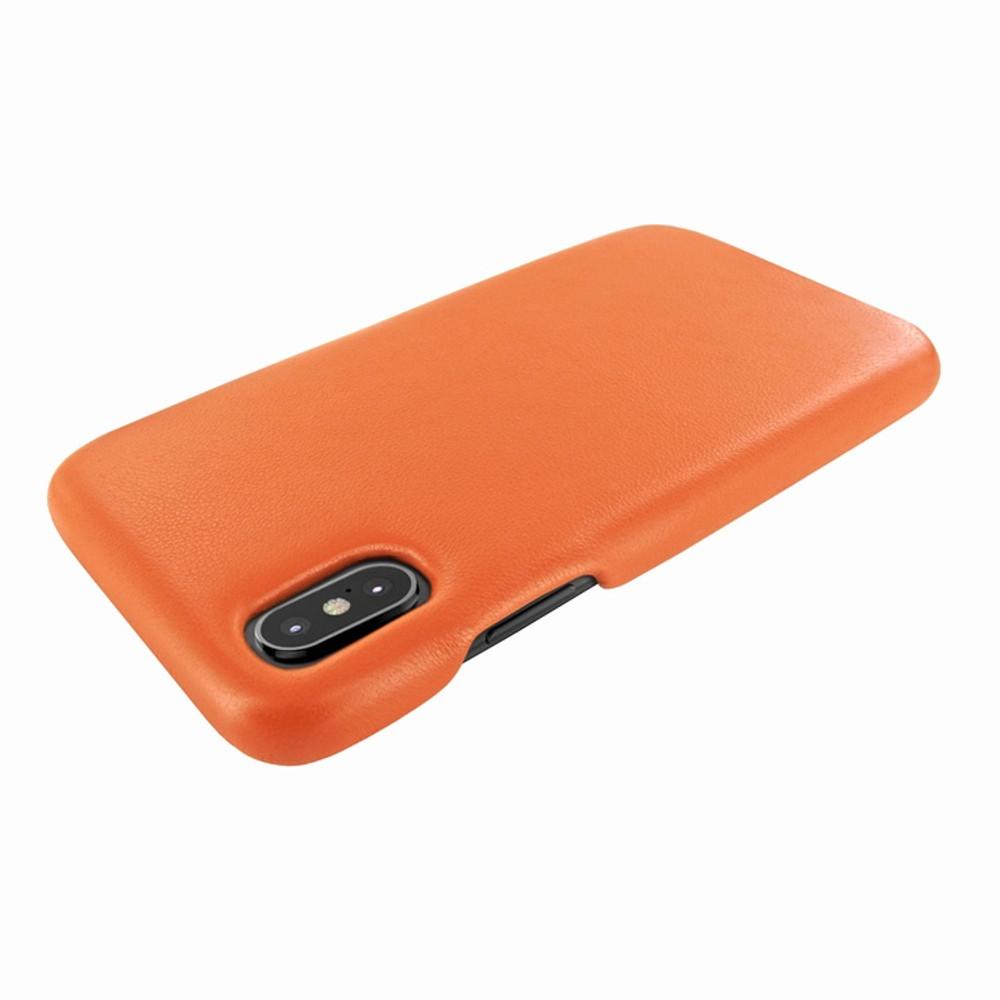 Piel Frama iPhone X / Xs FramaSlimGrip Leather Case - Orange