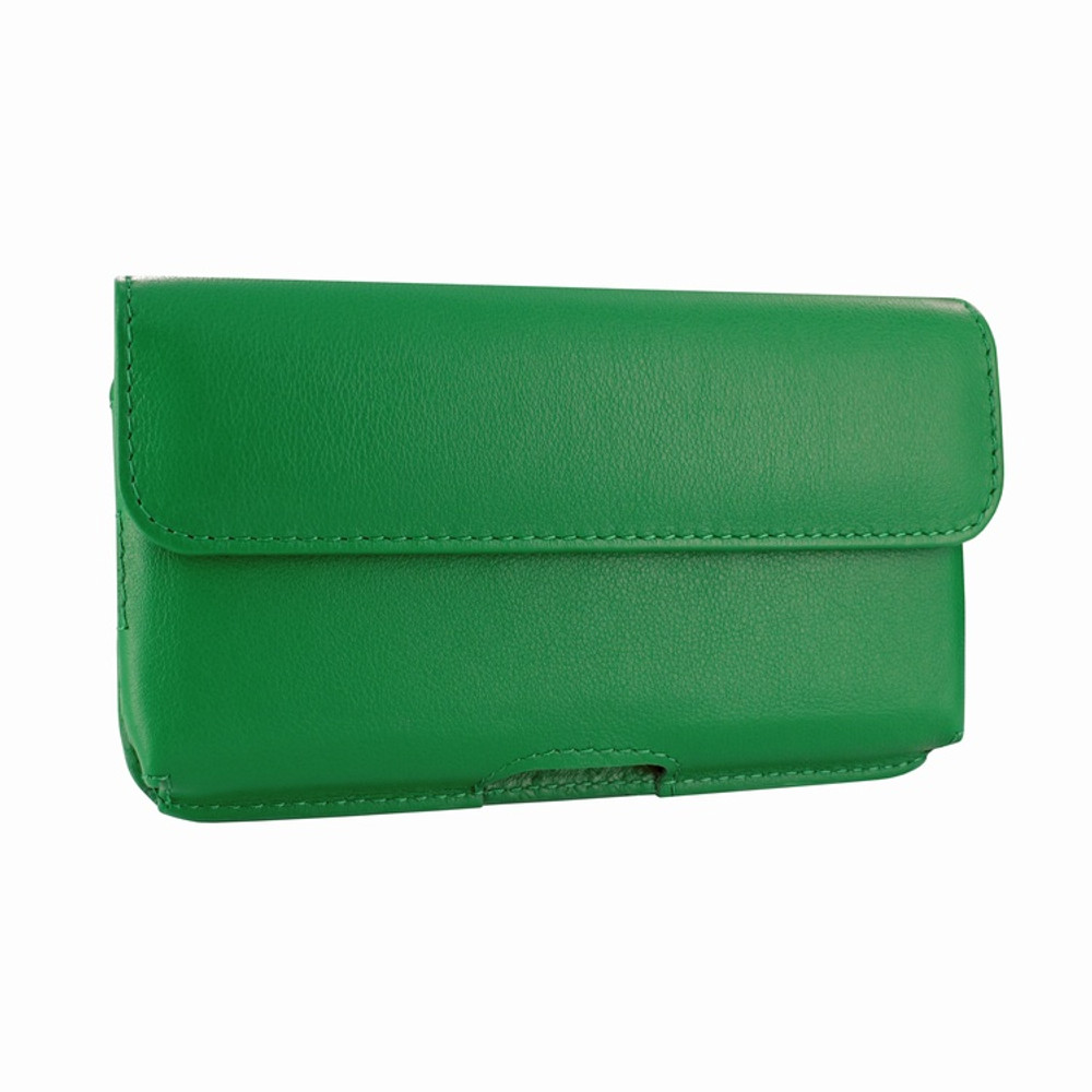 Piel Frama iPhone X / Xs Horizontal Pouch Leather Case - Green