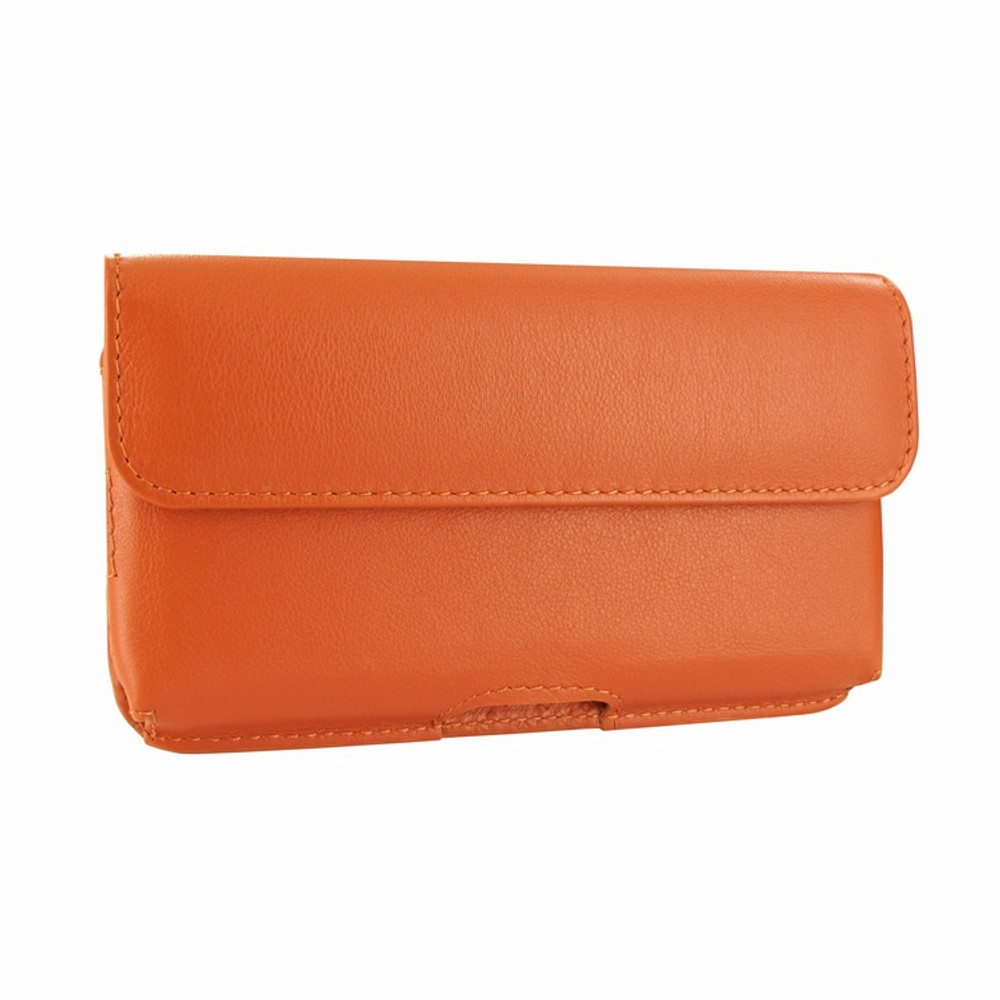Piel Frama iPhone X / Xs Horizontal Pouch Leather Case - Orange