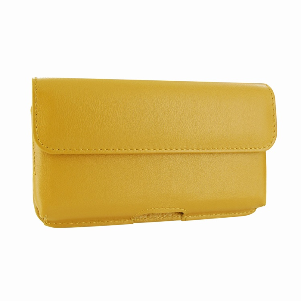 Piel Frama iPhone X / Xs Horizontal Pouch Leather Case - Yellow