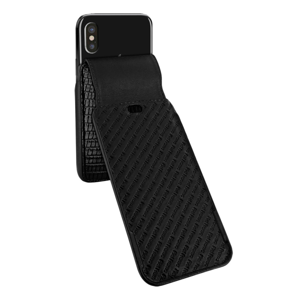 Piel Frama iPhone X / Xs iMagnum Leather Case - Black Cowskin-Lizard