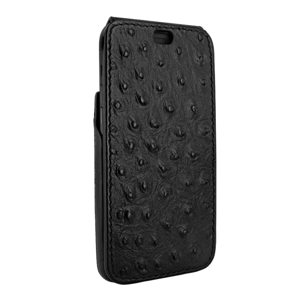Piel Frama iPhone X / Xs iMagnum Leather Case - Black Cowskin-Ostrich