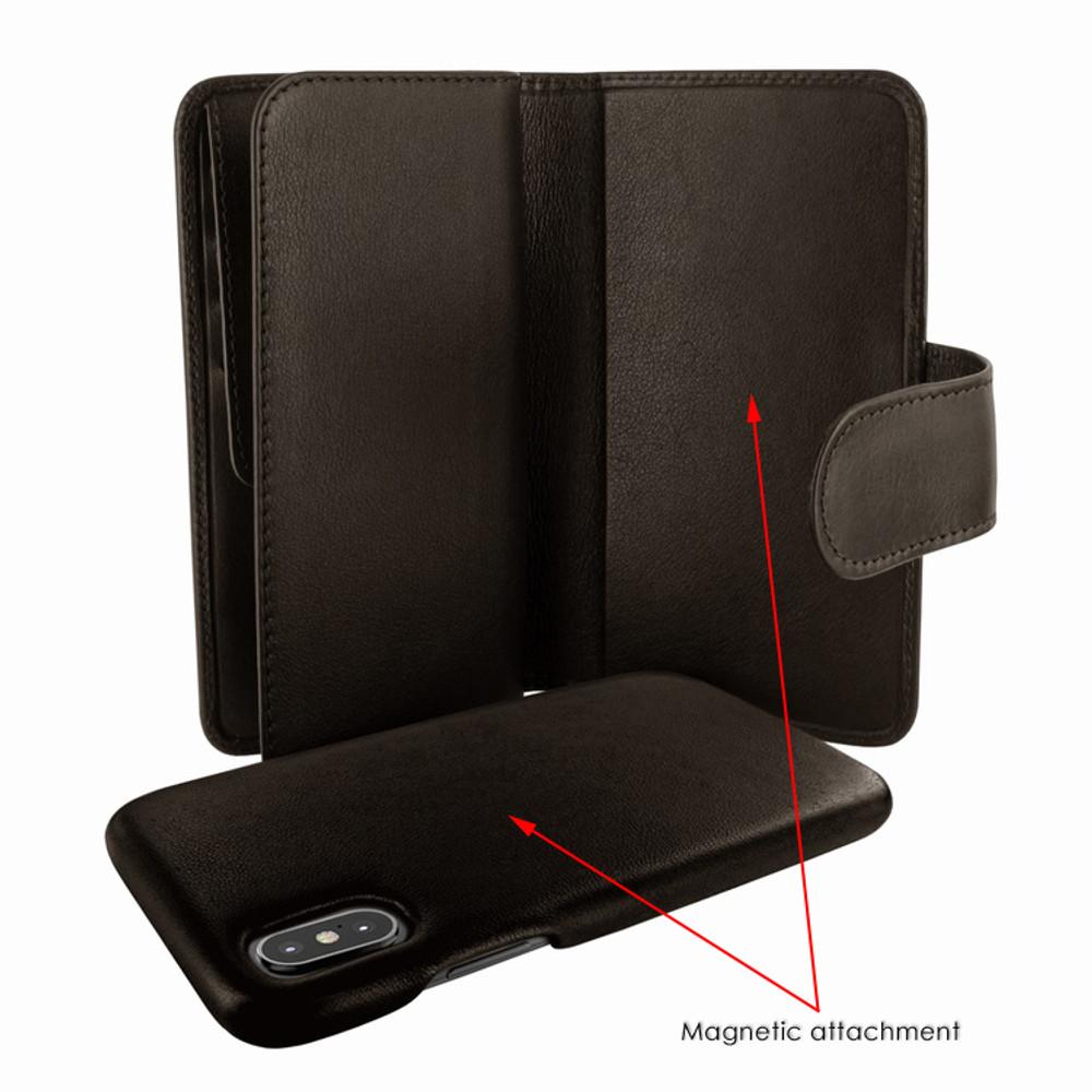 Piel Frama iPhone X / Xs WalletMagnum Leather Case - Brown