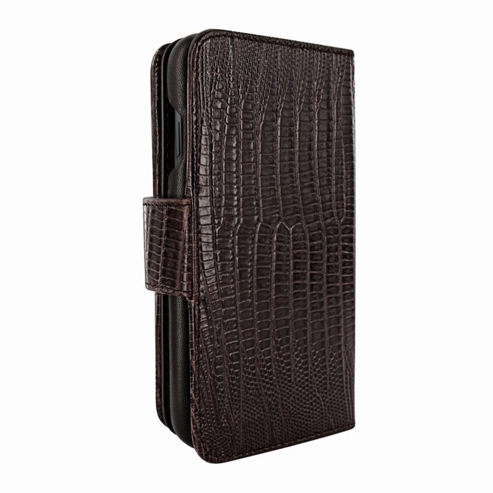 Piel Frama iPhone X / Xs WalletMagnum Leather Case - Brown Cowskin-Lizard