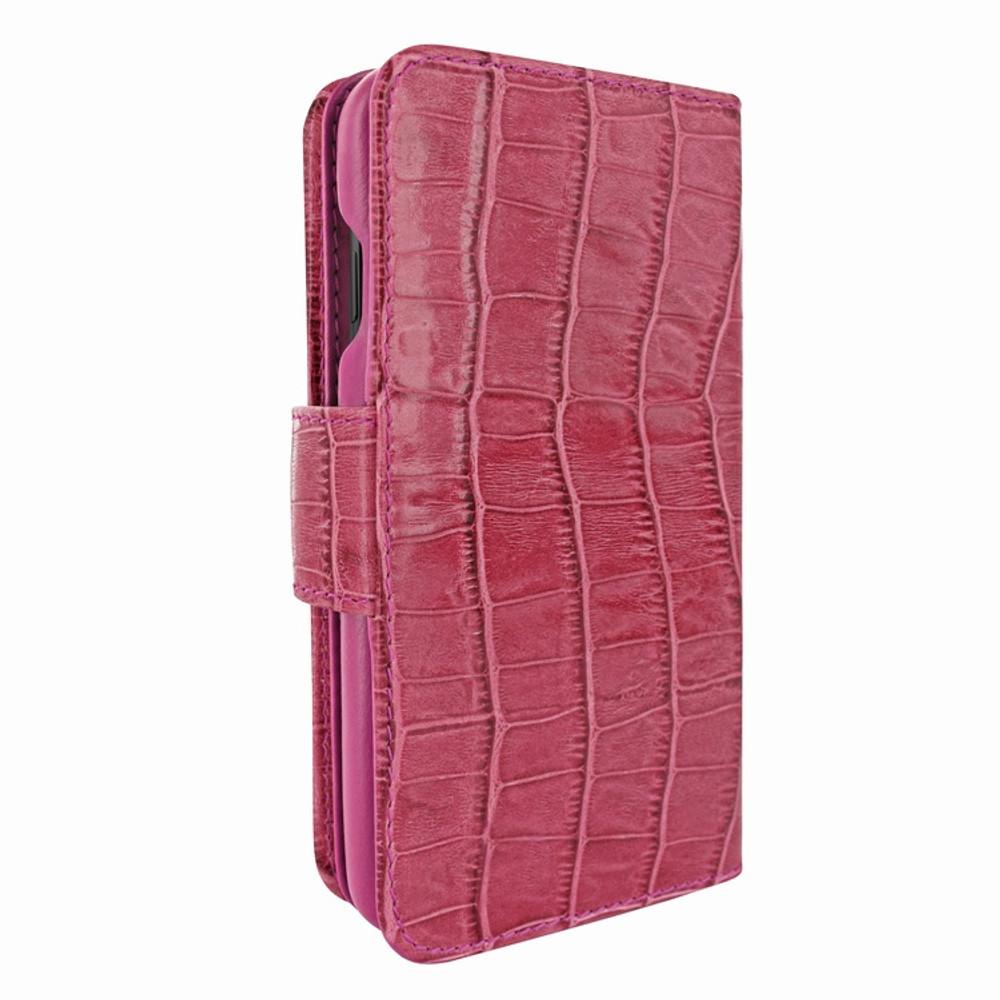 Piel Frama iPhone X / Xs WalletMagnum Leather Case - Fuchsia Cowskin-Crocodile