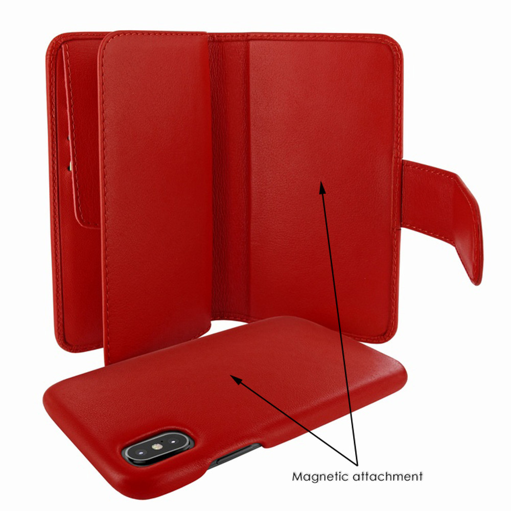 Piel Frama iPhone X / Xs WalletMagnum Leather Case - Red