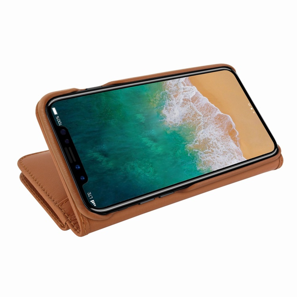 Piel Frama iPhone X / Xs WalletMagnum Leather Case - Tan
