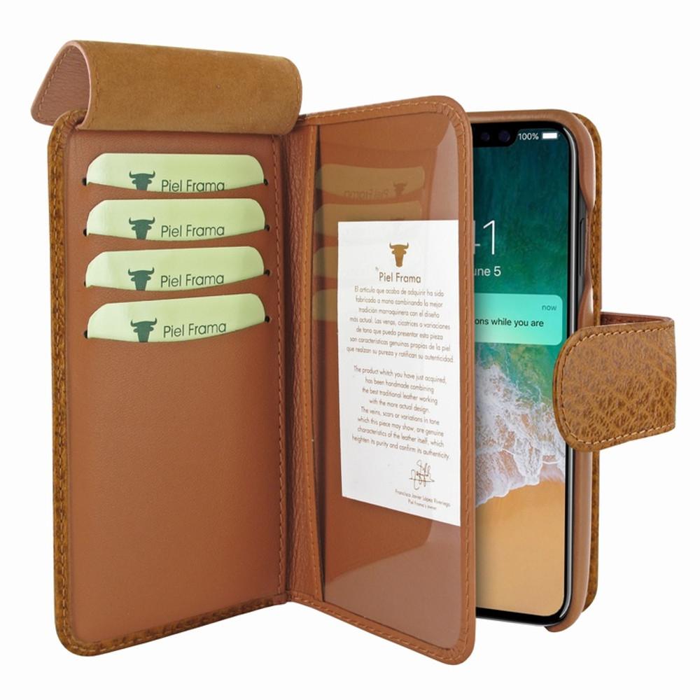 Piel Frama iPhone X / Xs WalletMagnum Leather Case - Tan iForte