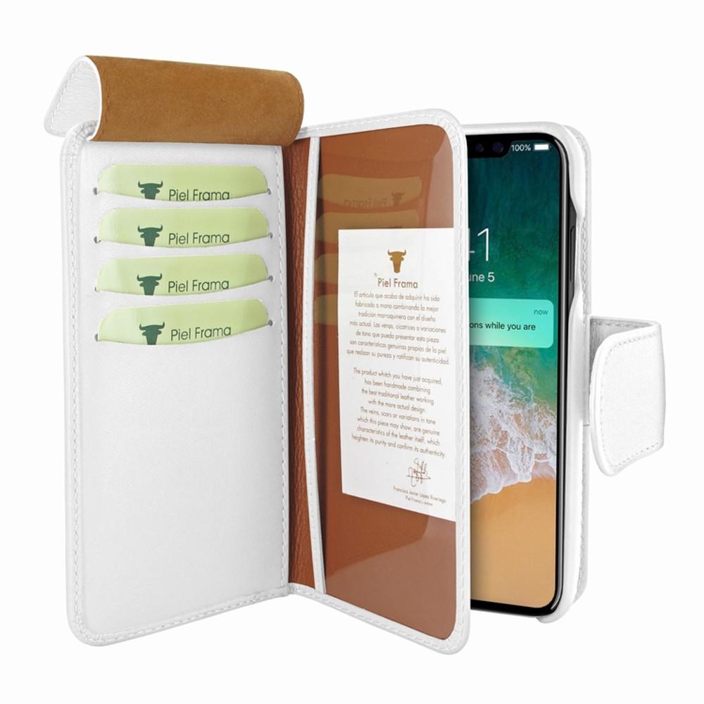 Piel Frama iPhone X / Xs WalletMagnum Leather Case - White