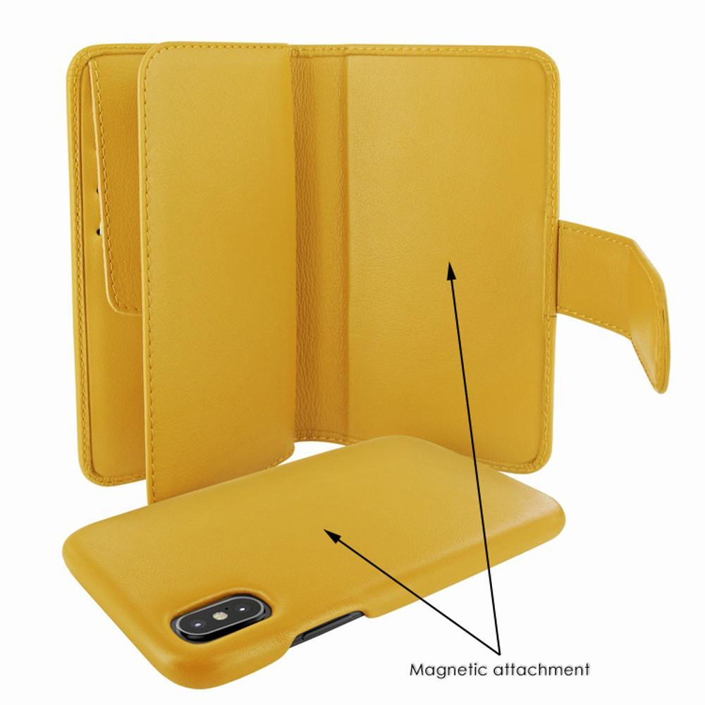 Piel Frama iPhone X / Xs WalletMagnum Leather Case - Yellow