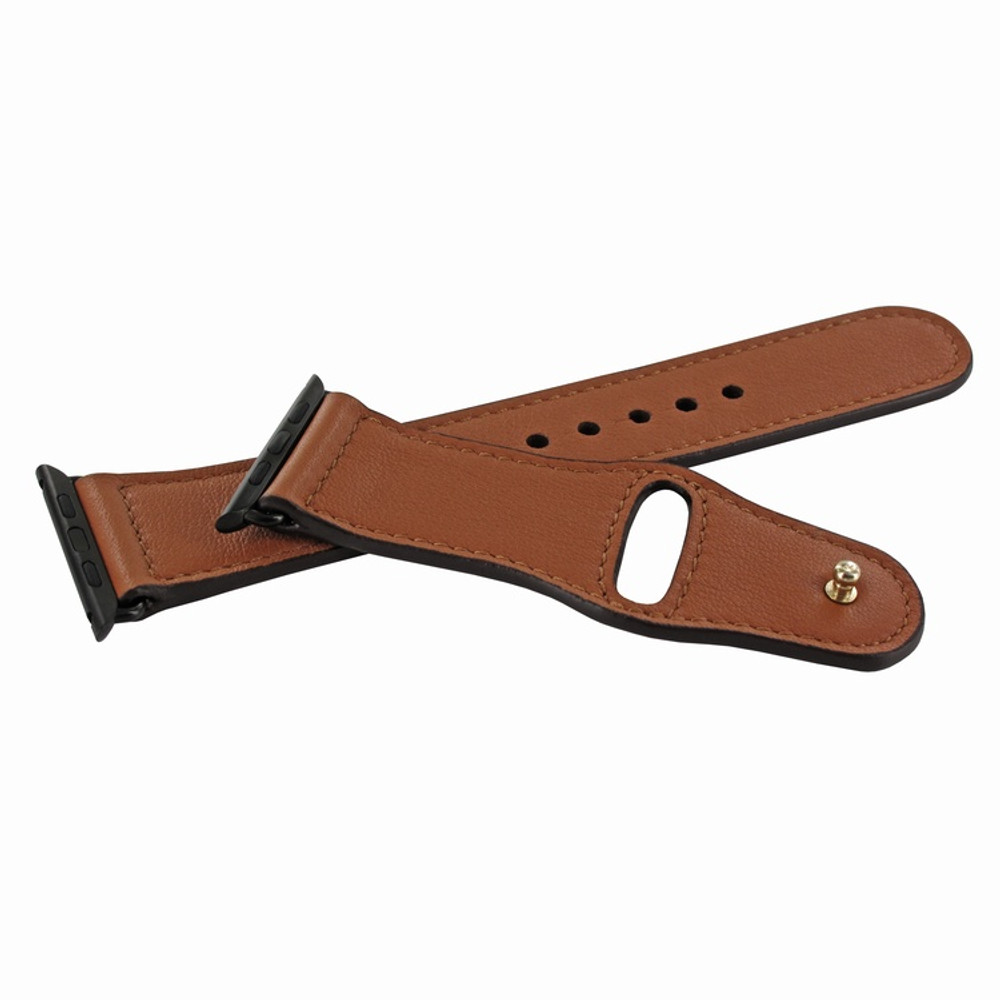 Piel Frama Apple Watch 42 mm Leather Strap - Tan / Black Adapter