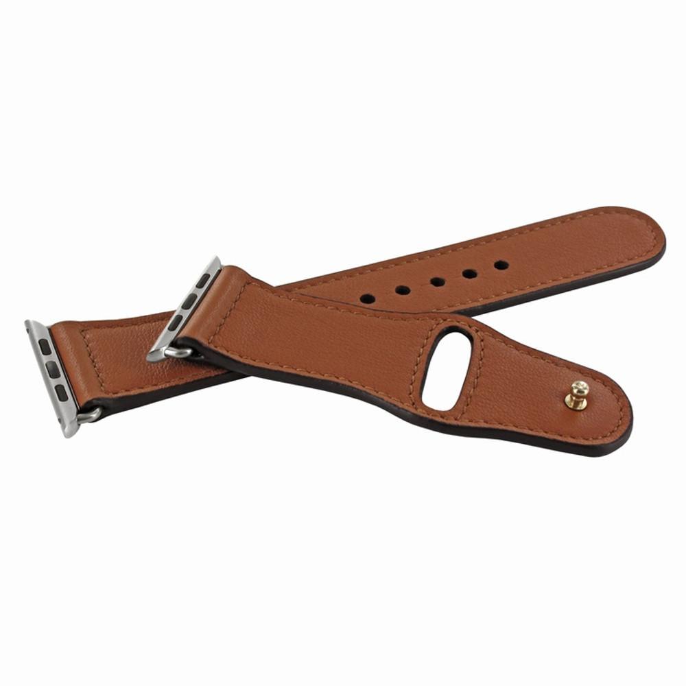 Piel Frama Apple Watch 42 mm Leather Strap - Tan / Silver Adapter