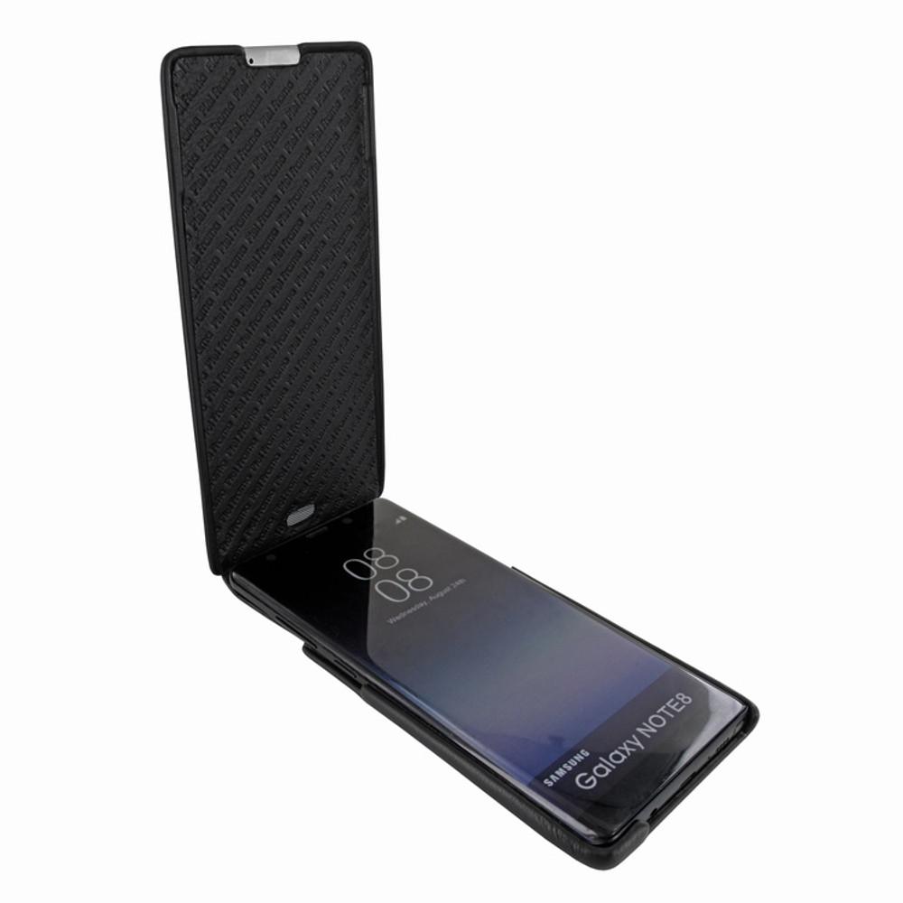 Piel Frama Samsung Galaxy Note 8 iMagnum Leather Case - Black Cowskin-Crocodile