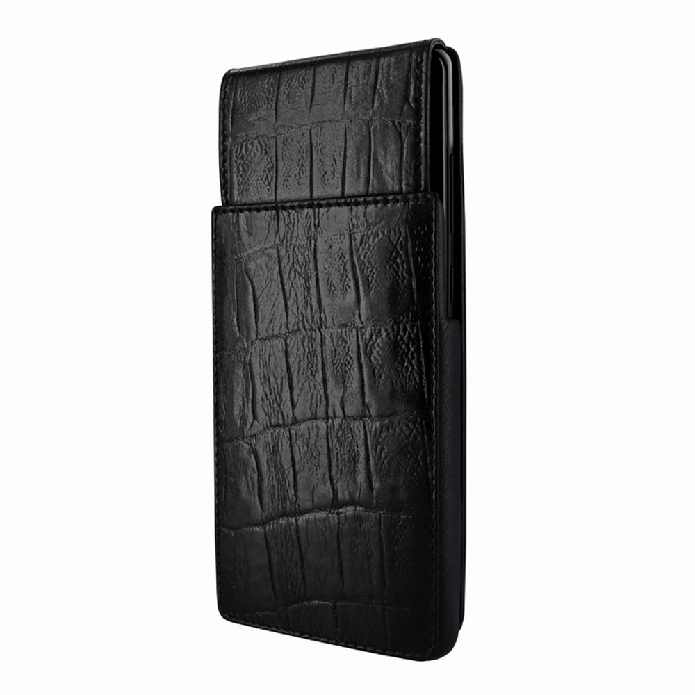 Piel Frama Samsung Galaxy Note 8 iMagnum Leather Case - Black Wild Cowskin-Crocodile