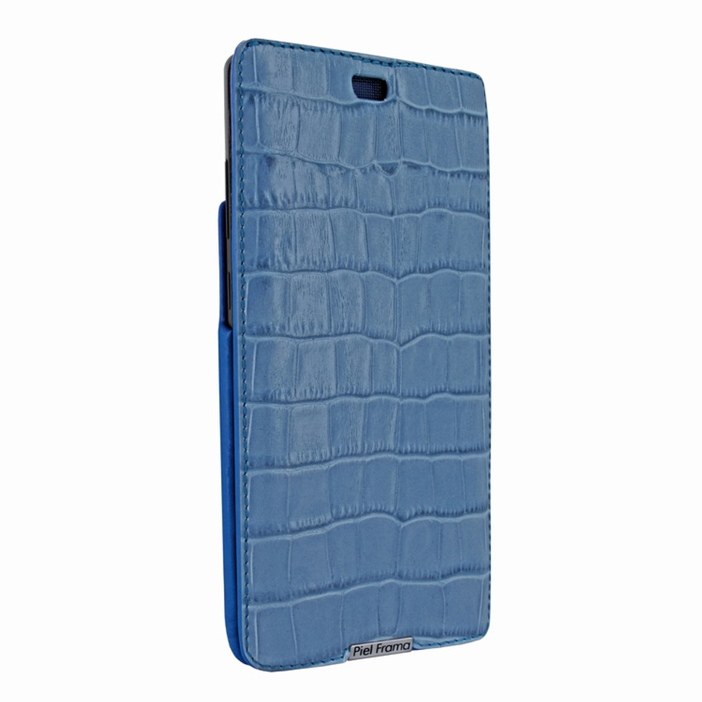 Piel Frama Samsung Galaxy Note 8 iMagnum Leather Case - Blue Cowskin-Crocodile