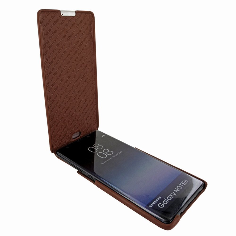 Piel Frama Samsung Galaxy Note 8 iMagnum Leather Case - Brown Cowskin-Crocodile