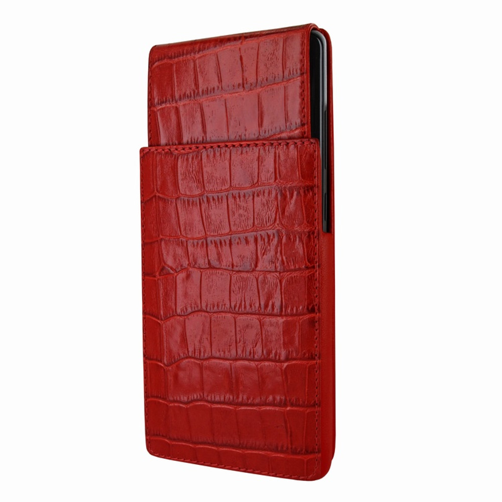 Piel Frama Samsung Galaxy Note 8 iMagnum Leather Case - Red Cowskin-Crocodile