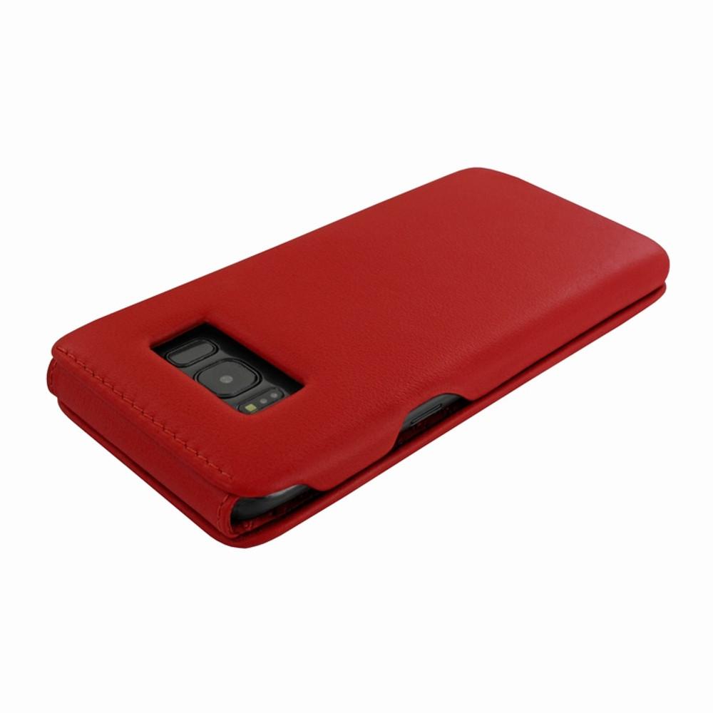 Piel Frama Samsung Galaxy S8 Plus iMagnum Leather Case - Red