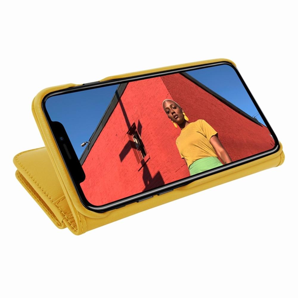 Piel Frama iPhone XR WalletMagnum Leather Case - Yellow