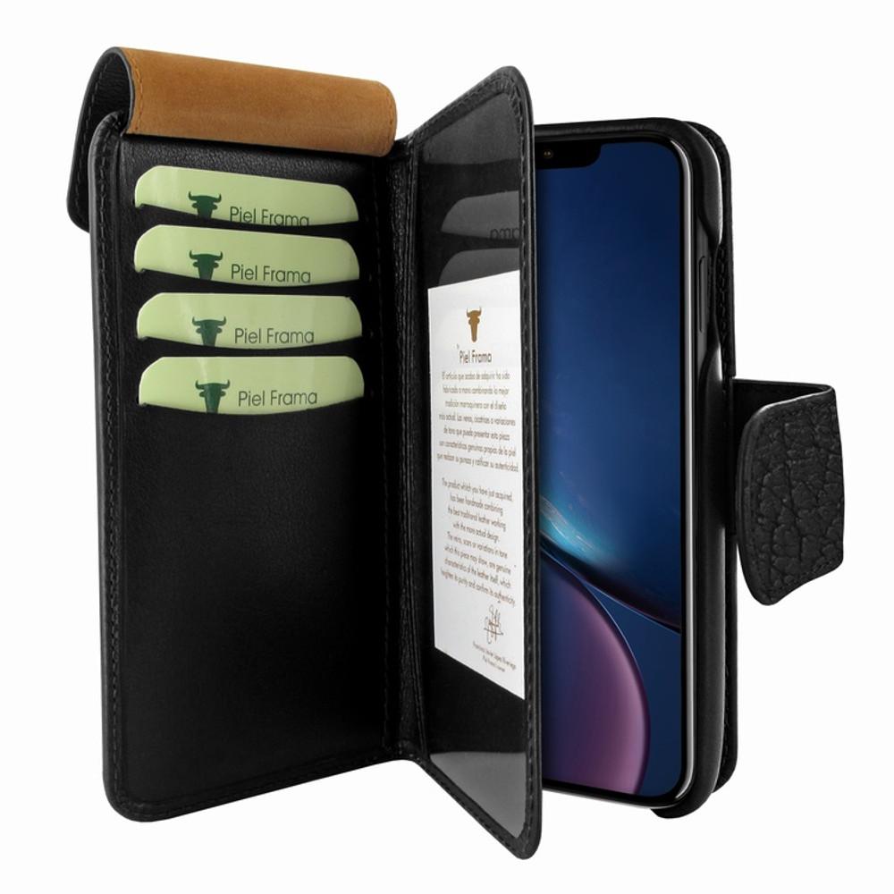 Piel Frama iPhone XR WalletMagnum Leather Case - Black iForte