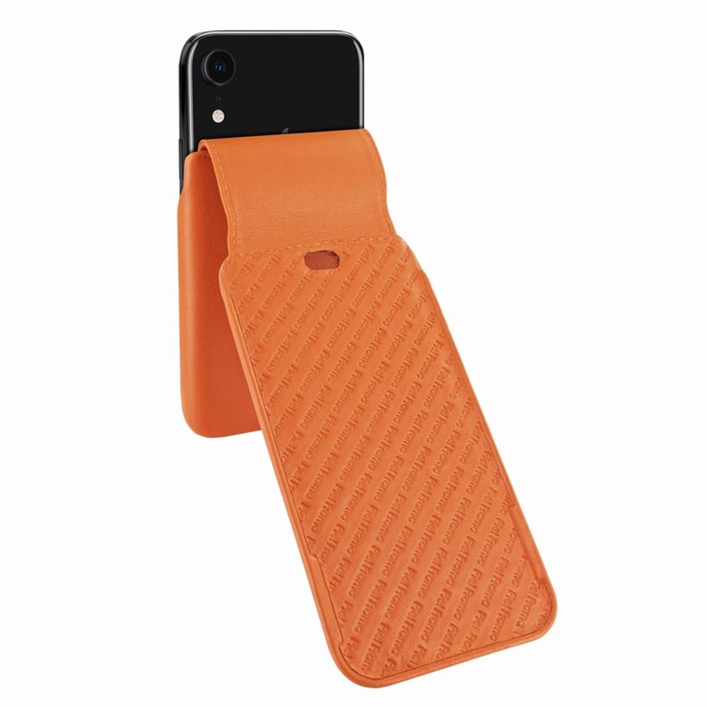 Piel Frama iPhone XR iMagnum Leather Case - Orange