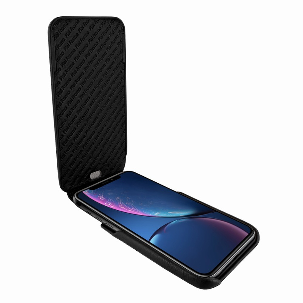Piel Frama iPhone XR iMagnum Leather Case - Black Cowskin-Ostrich