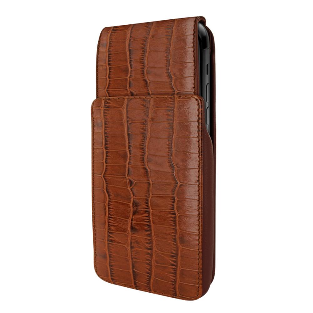 Piel Frama iPhone XR iMagnum Leather Case - Brown Cowskin-Crocodile