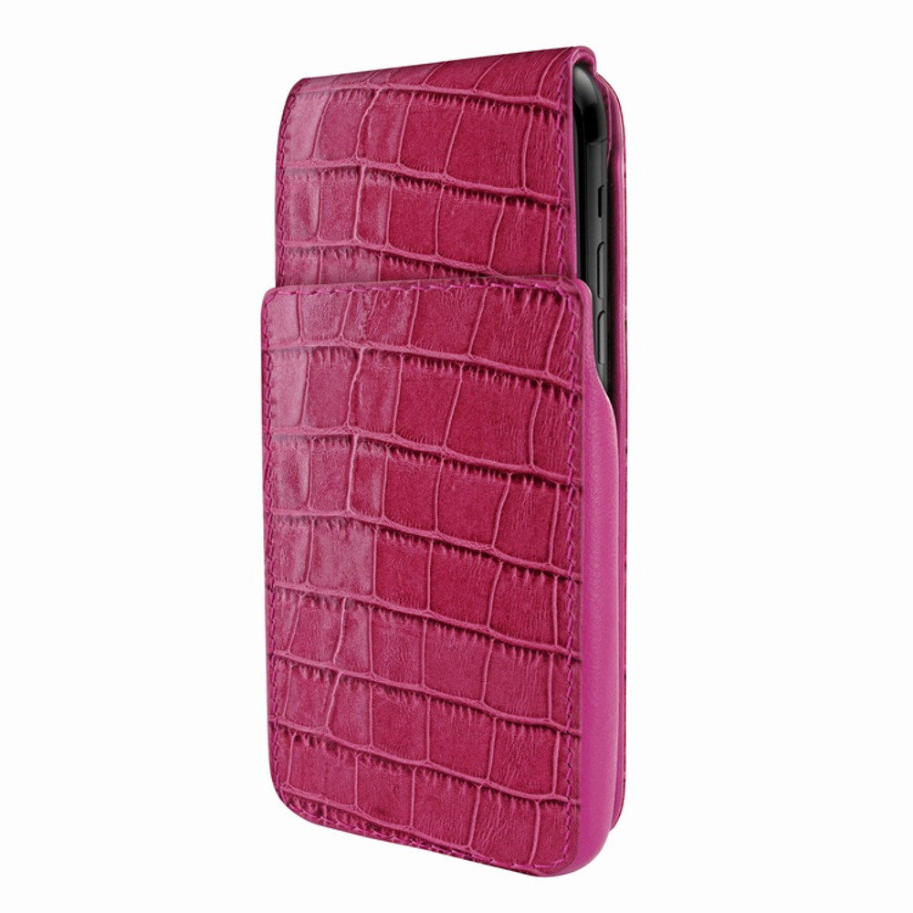 Piel Frama iPhone XR iMagnum Leather Case - Fuchsia Cowskin-Crocodile