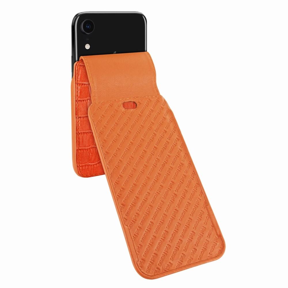 Piel Frama iPhone XR iMagnum Leather Case - Orange Cowskin-Crocodile