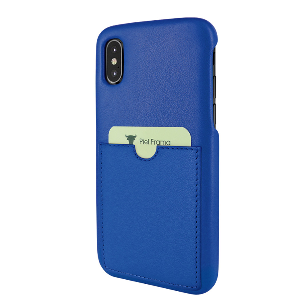 Piel Frama iPhone Xs Max FramaSlimGrip Leather Case - Blue