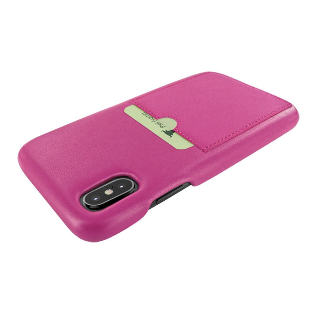Piel Frama iPhone Xs Max FramaSlimGrip Leather Case - Fuchsia
