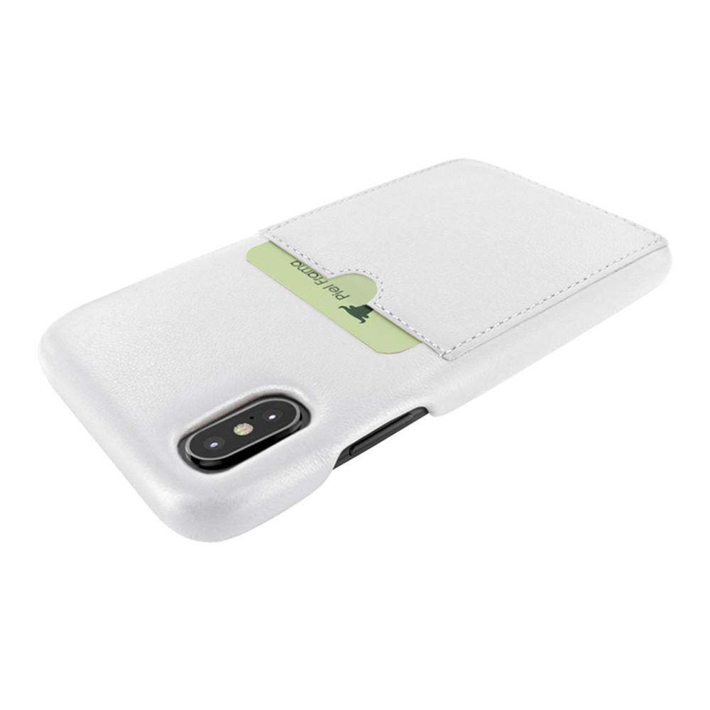 Piel Frama iPhone X / Xs FramaSlimGrip with Card Pocket Leather Case - White