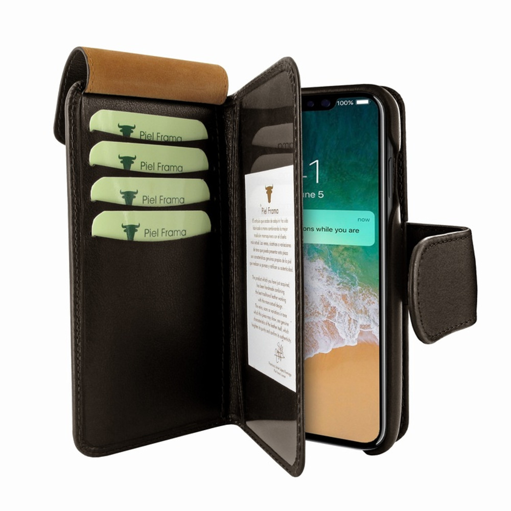 Piel Frama iPhone Xs Max WalletMagnum Leather Case - Brown