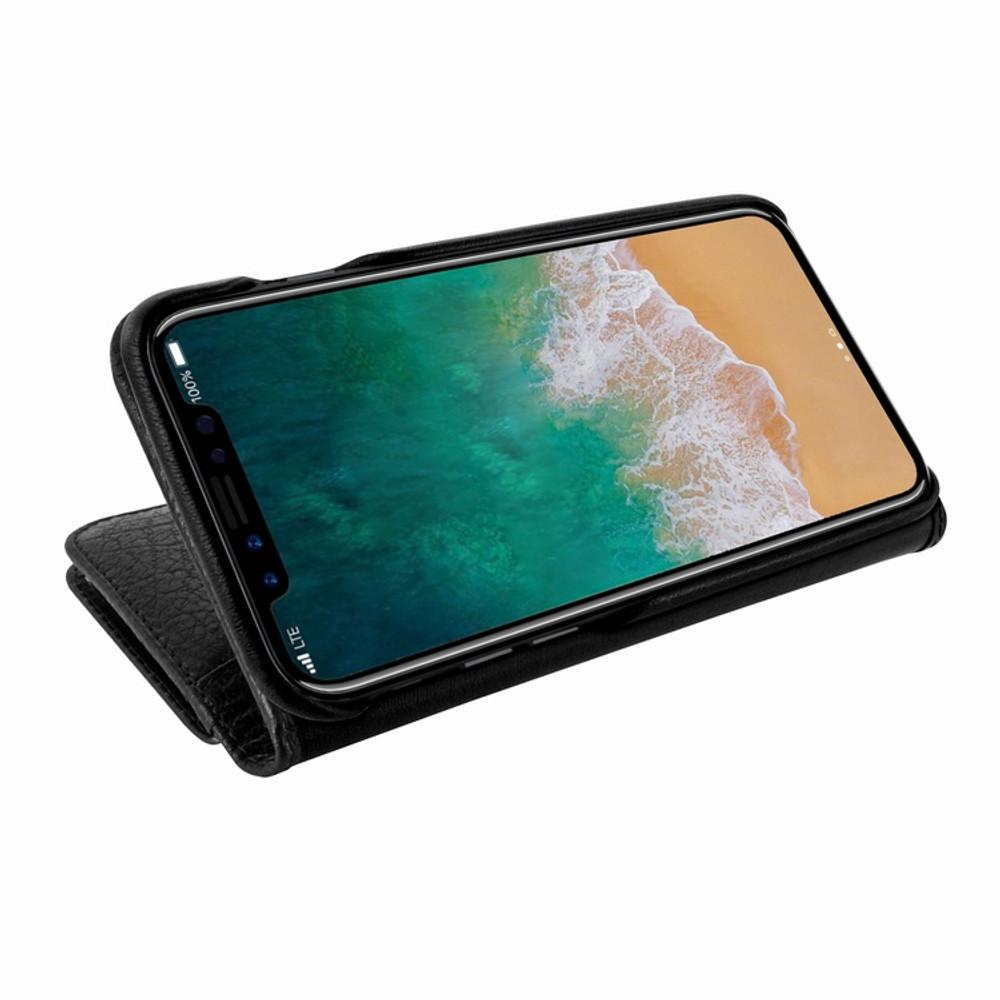Piel Frama iPhone Xs Max WalletMagnum Leather Case - Black iForte