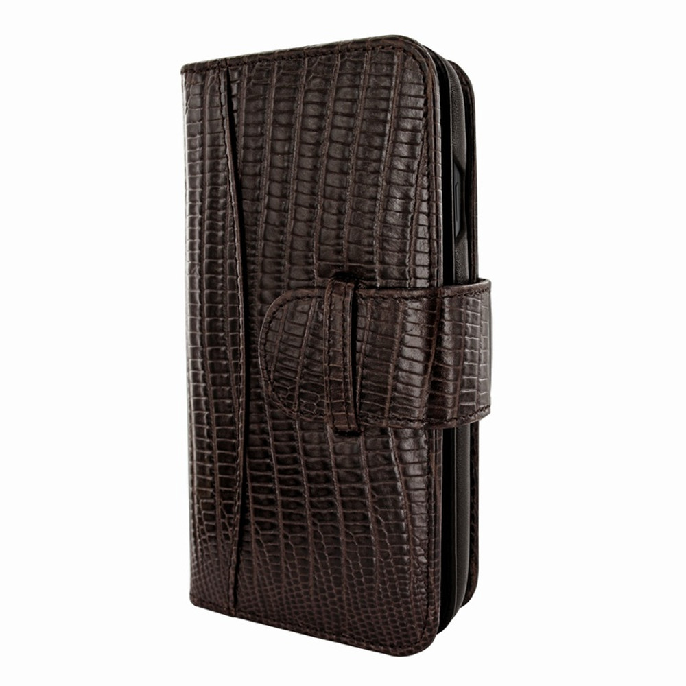 Piel Frama iPhone Xs Max WalletMagnum Leather Case - Brown Cowskin-Lizard