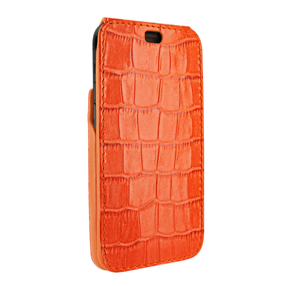 Piel Frama iPhone Xs Max iMagnum Leather Case - Orange Cowskin-Crocodile