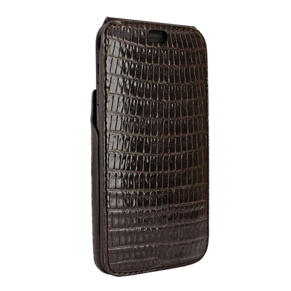 Piel Frama iPhone Xs Max iMagnum Leather Case - Brown Cowskin-Lizard