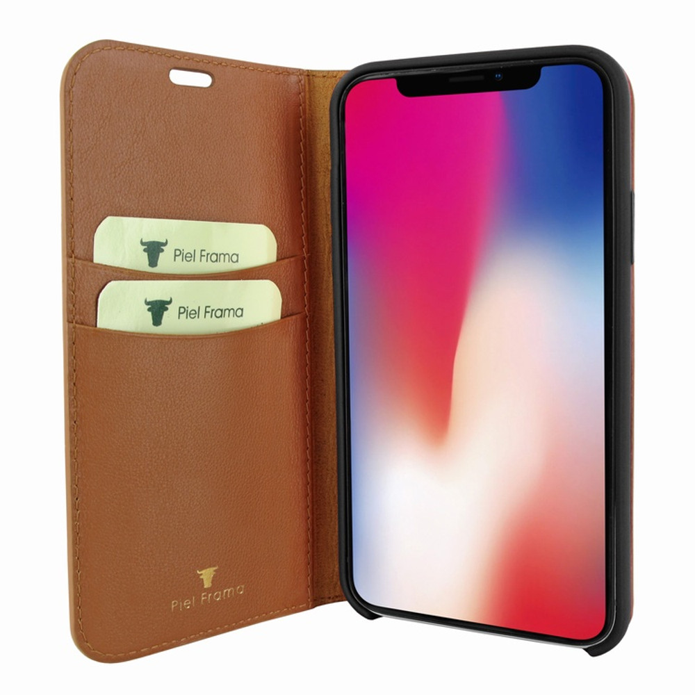 Piel Frama iPhone Xs Max FramaSlimCards Leather Case - Tan