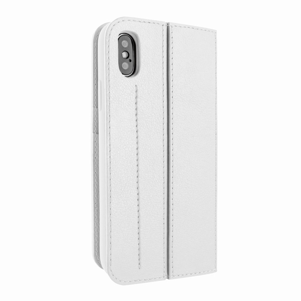 Piel Frama iPhone Xs Max FramaSlimCards Leather Case - White