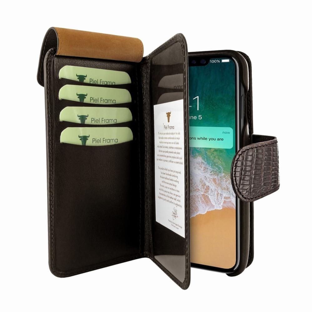 Piel Frama iPhone 11 Pro WalletMagnum Leather Case - Brown Cowskin-Lizard