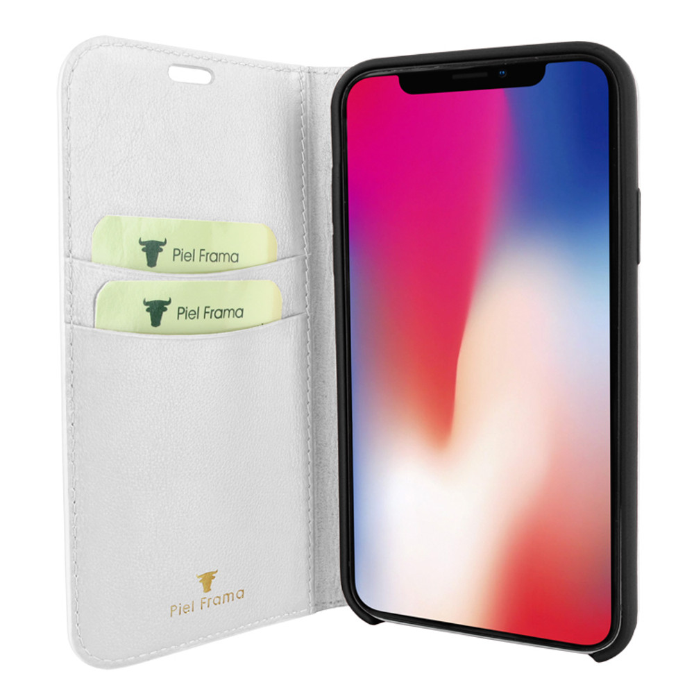 Piel Frama iPhone 11  FramaSlimCards Leather Case - White