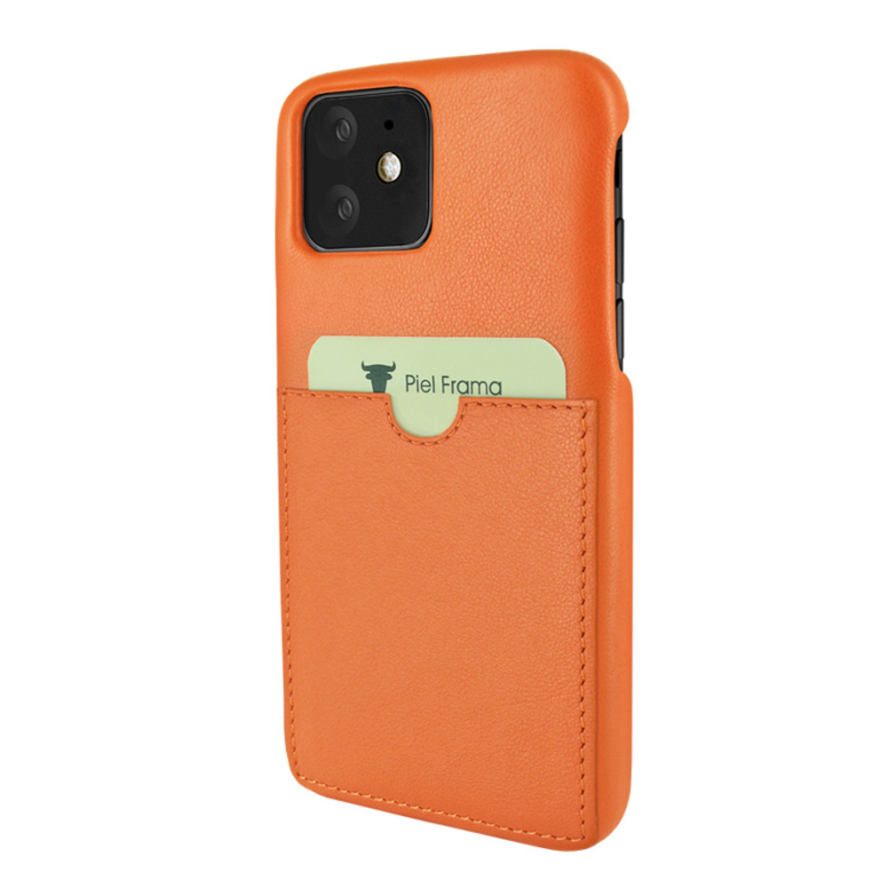 Piel Frama iPhone 11  FramaSlimGrip Leather Case - Orange