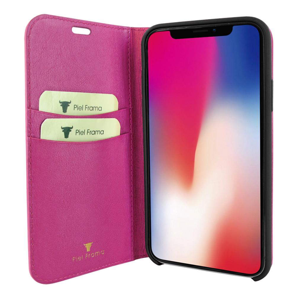 Piel Frama iPhone 11 Pro FramaSlimCards Leather Case - Fuchsia Cowskin-Crocodile