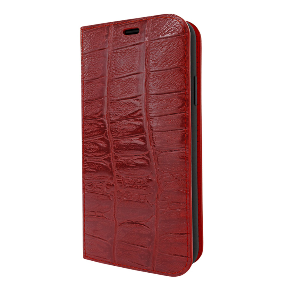 Piel Frama iPhone 11 Pro FramaSlimCards Leather Case - Red Wild Cowskin-Crocodile