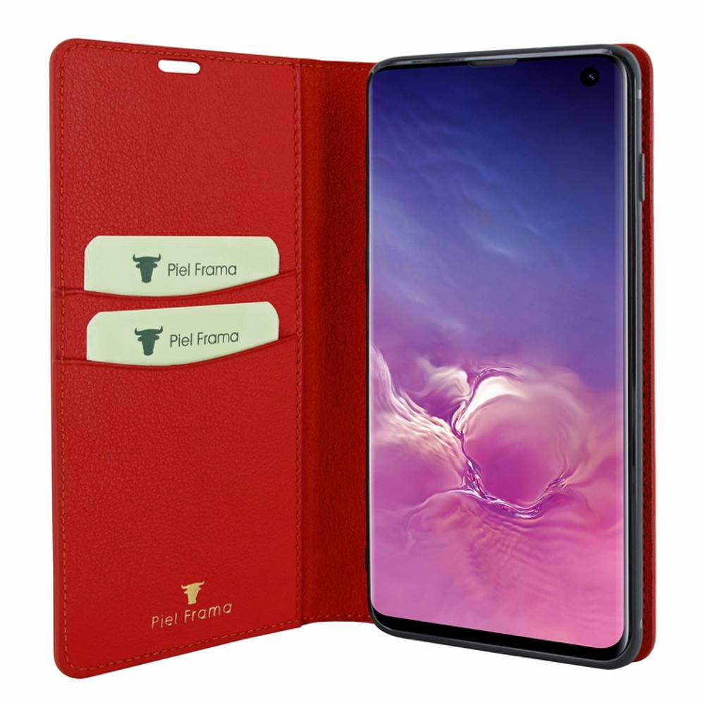 Piel Frama Samsung Galaxy S10e FramaSlimCards Leather Case - Red
