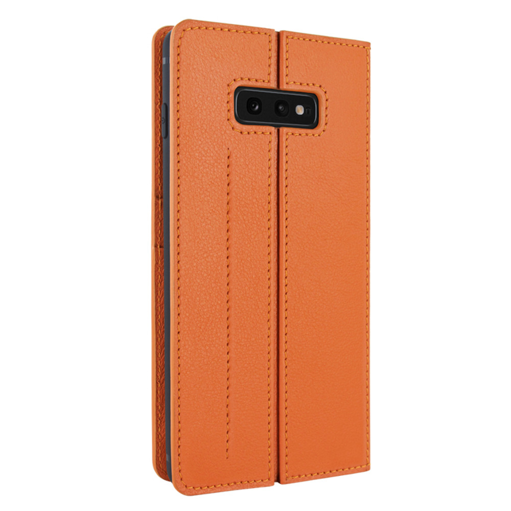 Piel Frama Samsung Galaxy S10e FramaSlimCards Leather Case - Orange
