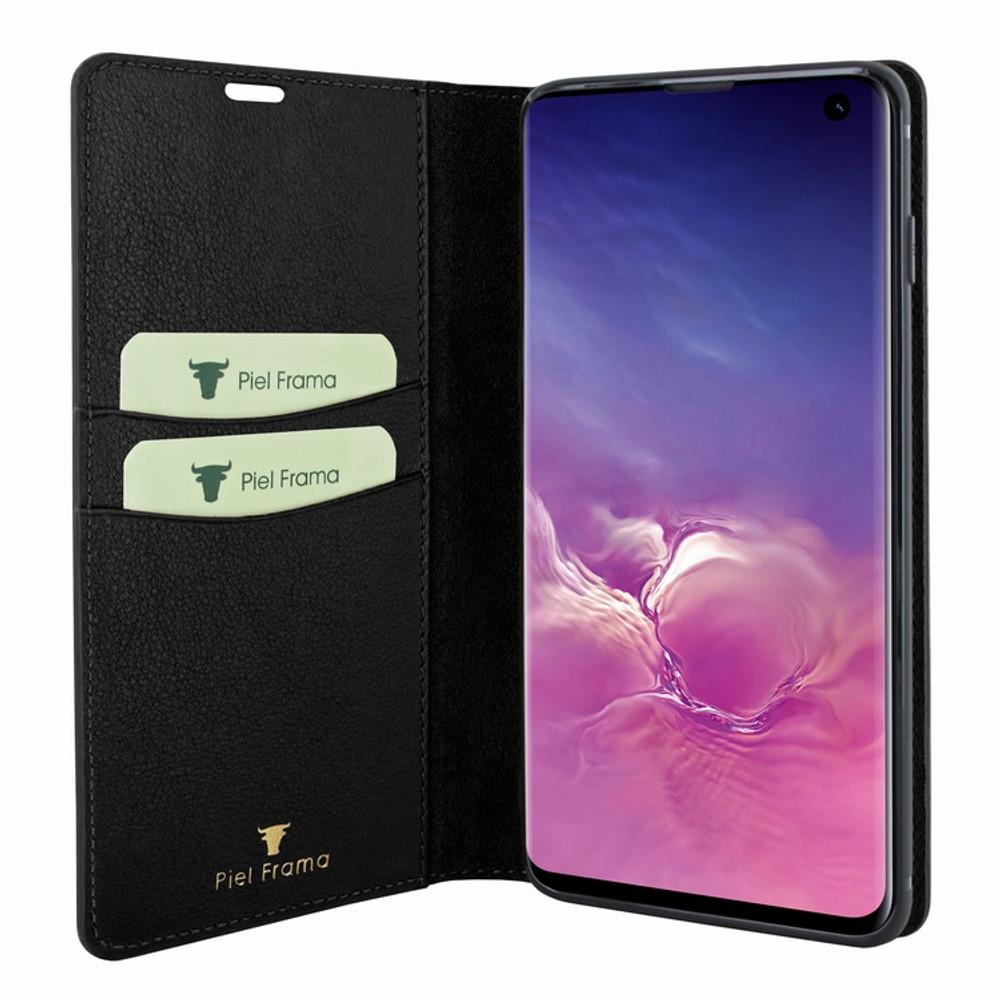 Piel Frama Samsung Galaxy S10e FramaSlimCards Leather Case - Black Cowskin-Ostrich