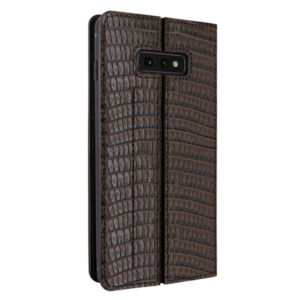 Piel Frama Samsung Galaxy S10e FramaSlimCards Leather Case - Brown Cowskin-Lizard