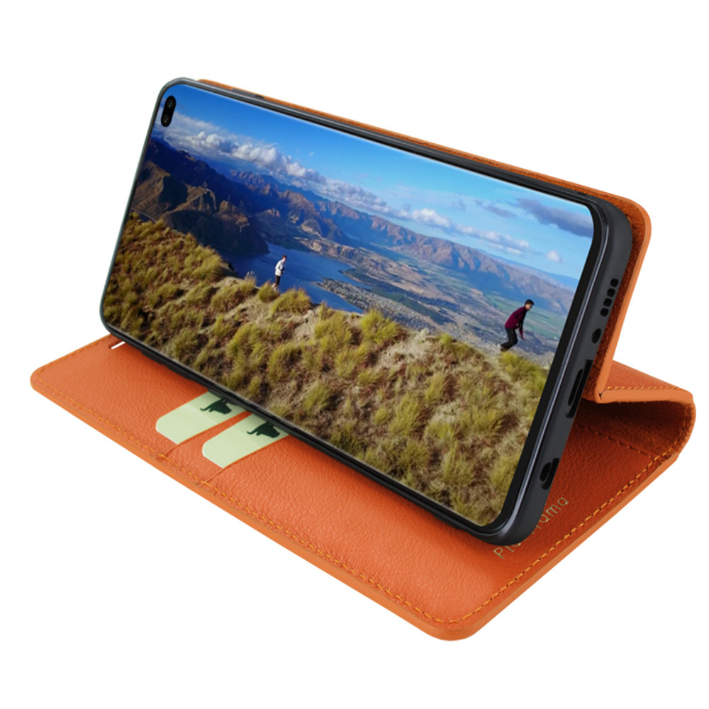 Piel Frama Samsung Galaxy S10 PLUS FramaSlimCards Leather Case - Orange